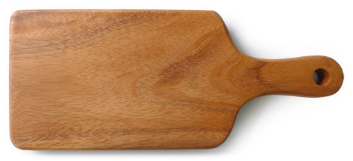 "Rectangular Chopping Board with Handle 12"" x 5"" x 0.75"""
