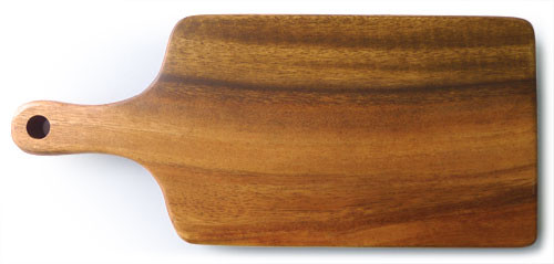 "Rectangular Chopping Board with Handle 14"" x 6"" x 0.75"""