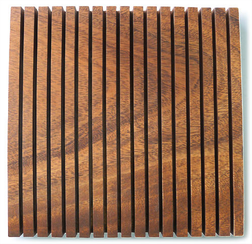 "Square Chopping Board with Grooves 8"" x 8"" x 1"""