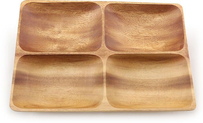 "4 Container Rectangular Tray 10.5"" x 7.5""x 1.5"""