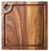 "Square Chopping Board with groove 12"" x 12"" x 0.75"""