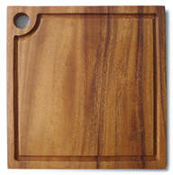 "Square Chopping Board with groove 10"" x 10"" x 0.75"""