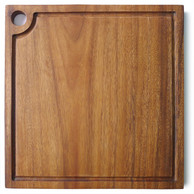 "Square Chopping Board with groove 8"" x 8"" x 0.75"""