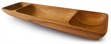 "Chip & Dip Dish with 2 Square End 12"" x 3.5"" x 1.5"""