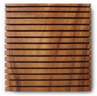 "Square Chopping Board with Grooves 7"" x 7"" x 0.75"""